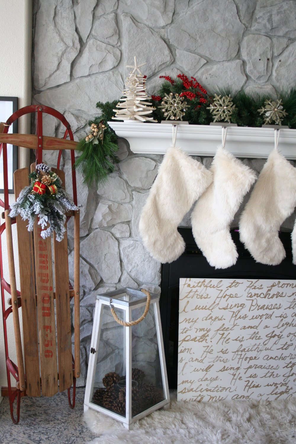 Christmas Sled Decor