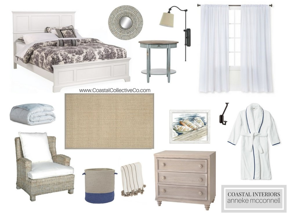 Affordable Coastal Guest Bedroom Retreat