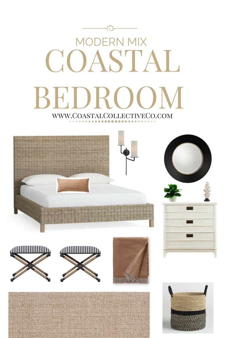 Masculine + Chic Coastal Bedroom by Anneke McConnell