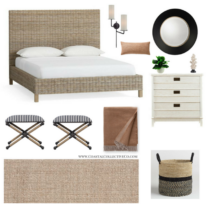 Modern Chic Coastal Bedroom