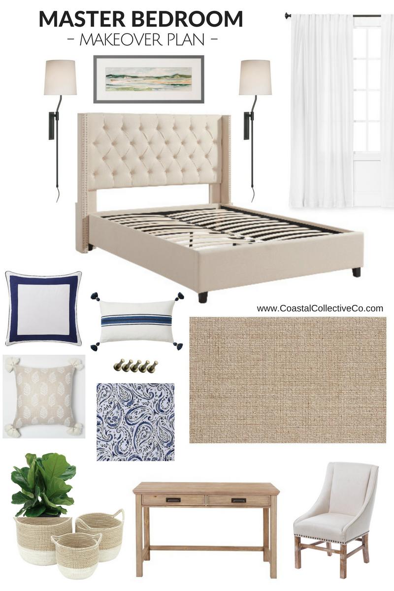 Beach House Master Bedroom Makeover Idea Coastal Collective Co