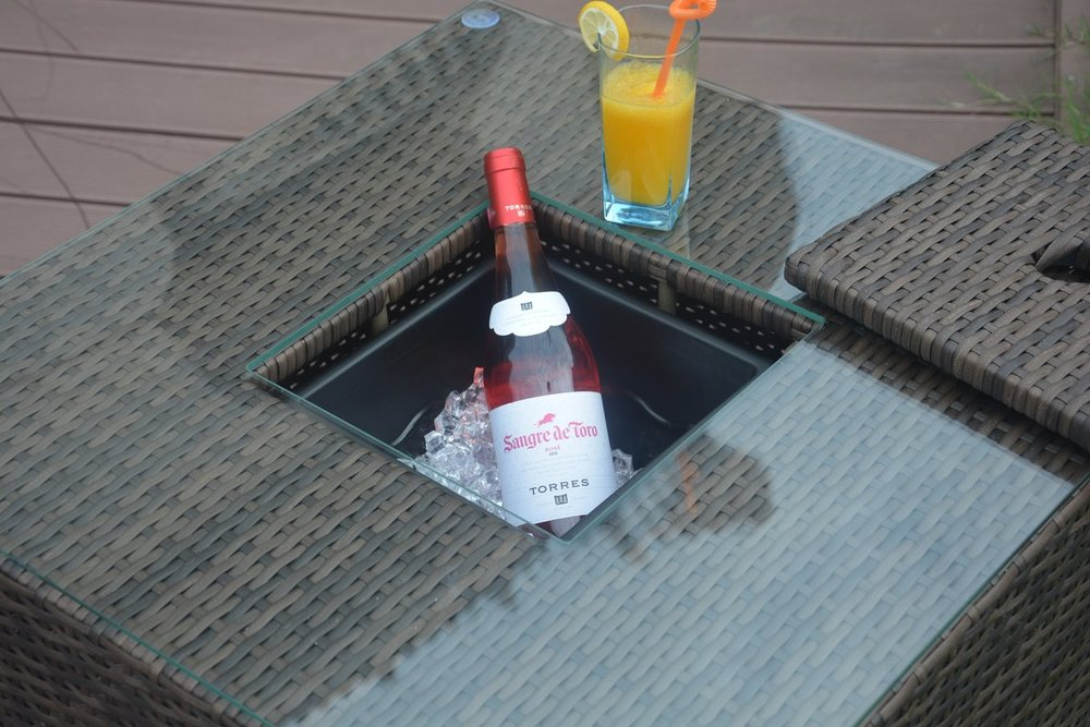 Outdoor Coffee Table with Drink Storage