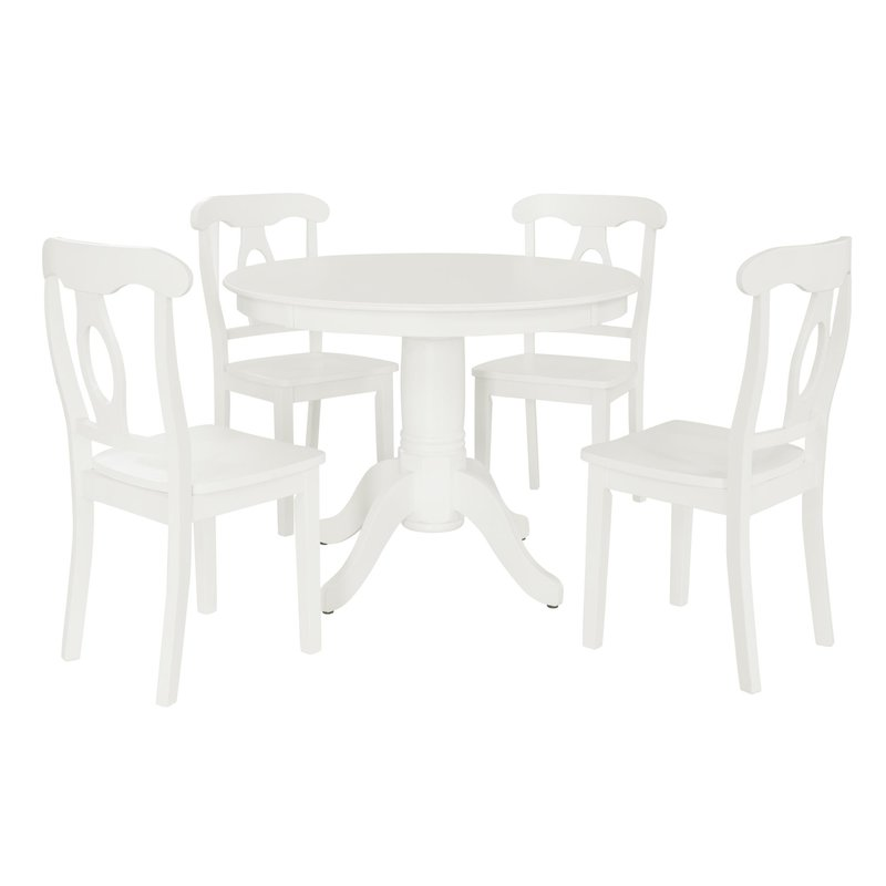 White 5-Piece dining set