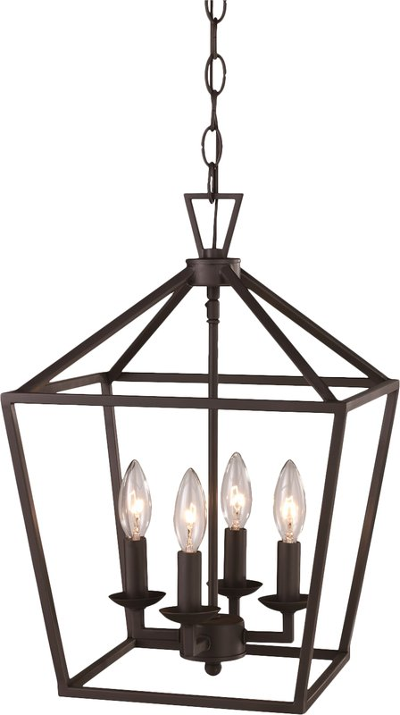4-light farmhouse pendant light