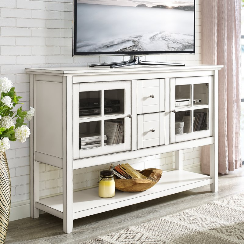 Coastal TV Stand and Accent Cabinet