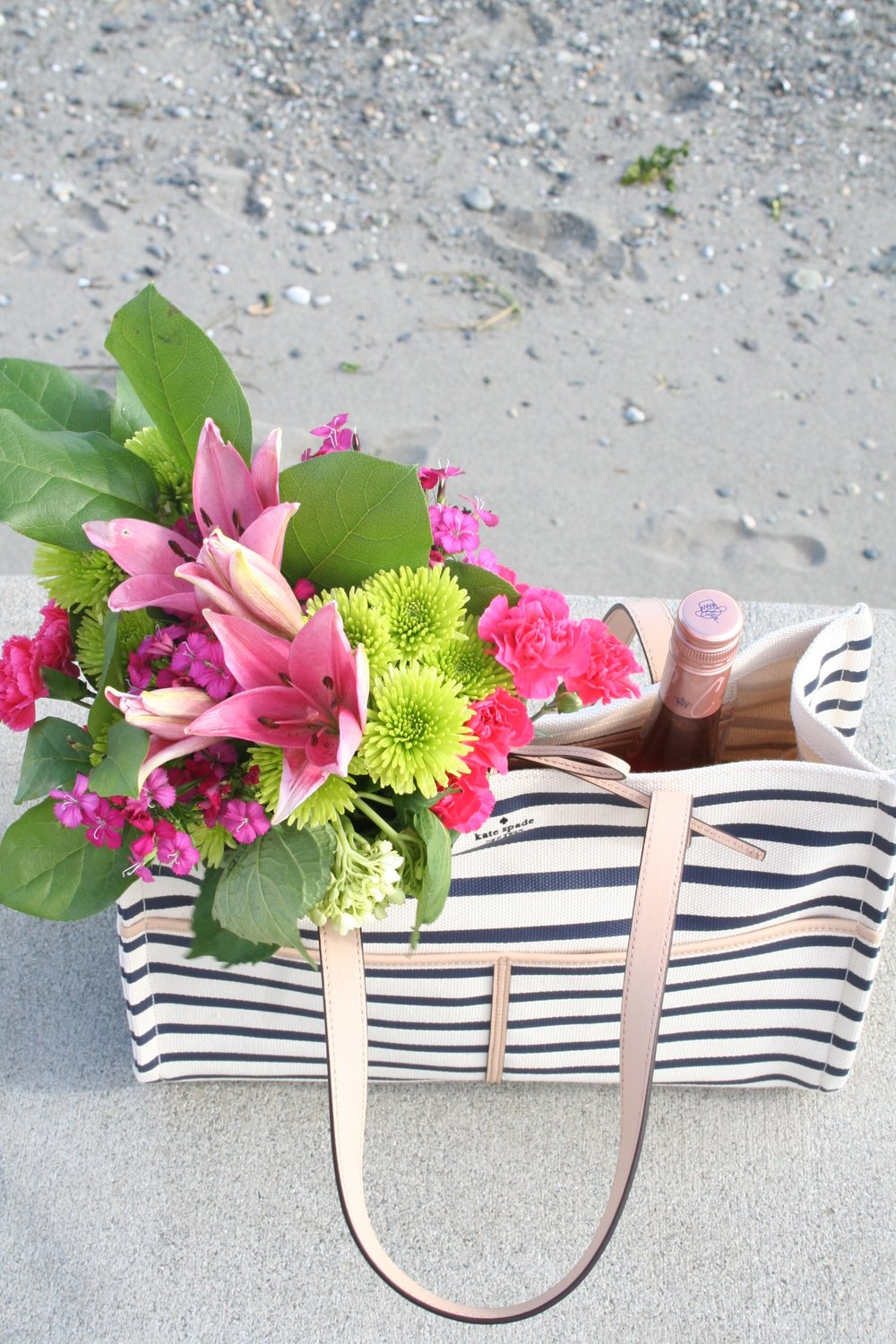 Striped Beach Tote for Summer
