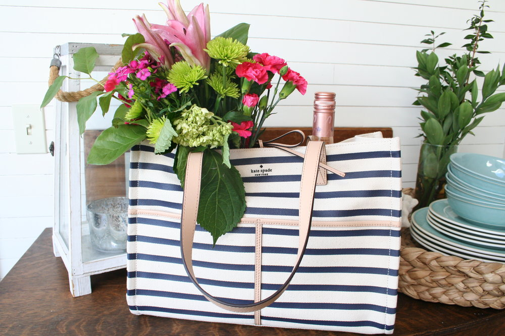 Coastal Navy Striped Tote for Summer