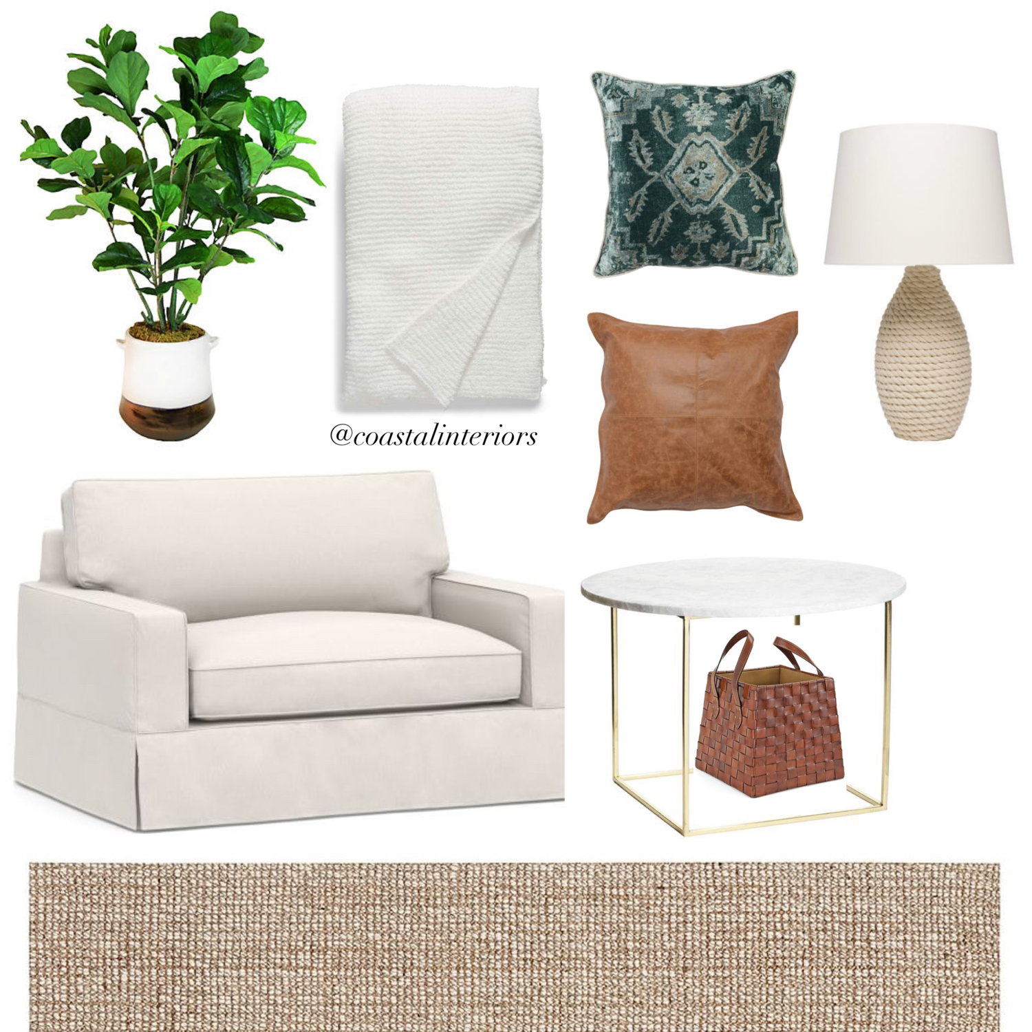 Cozy Sitting Area with Sleeper Chair — Coastal Collective Co.