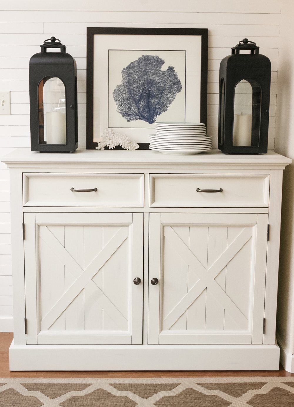 White Painted Buffet Cabinet