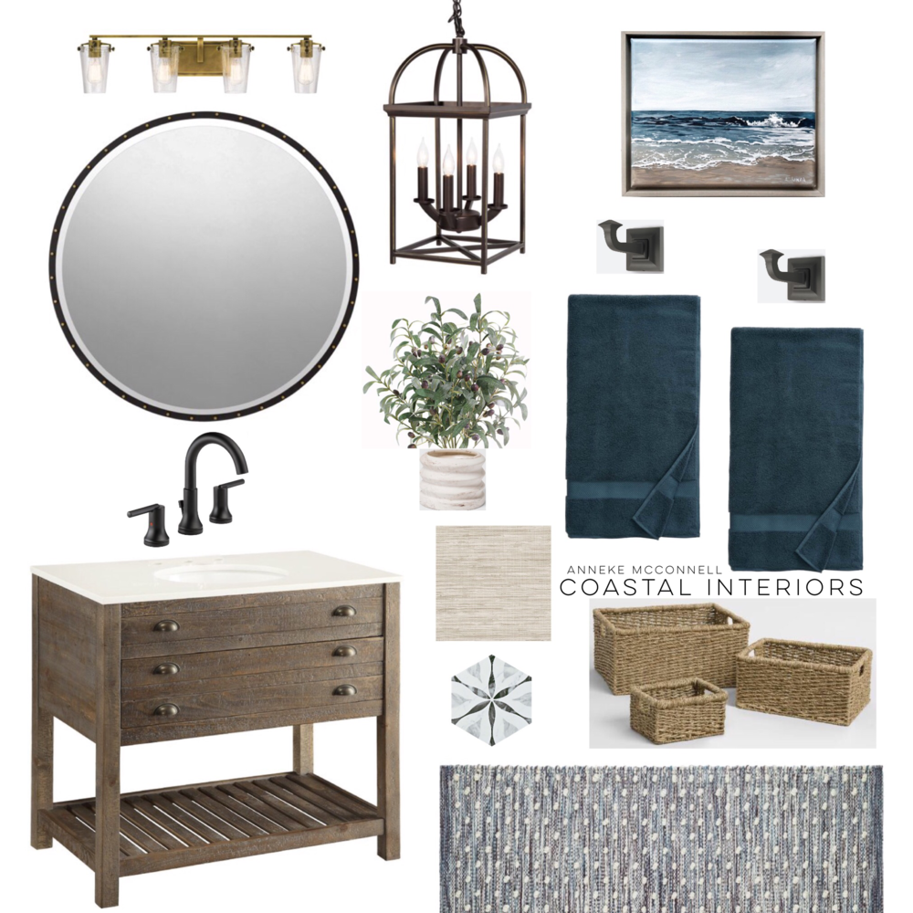 Coastal Rustic Bathroom Design Idea