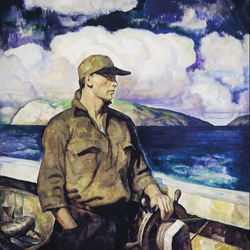 A Young Maine Fisherman 🖌 NC Wyeth