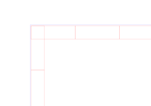 Next I enlarged the big rectangle by .2 mm in both width and length. .1 mm will be lost on each side so that's why I added .2 mm total. Be sure you are enlarging relative to the center of the object. You should have something that looks like this.