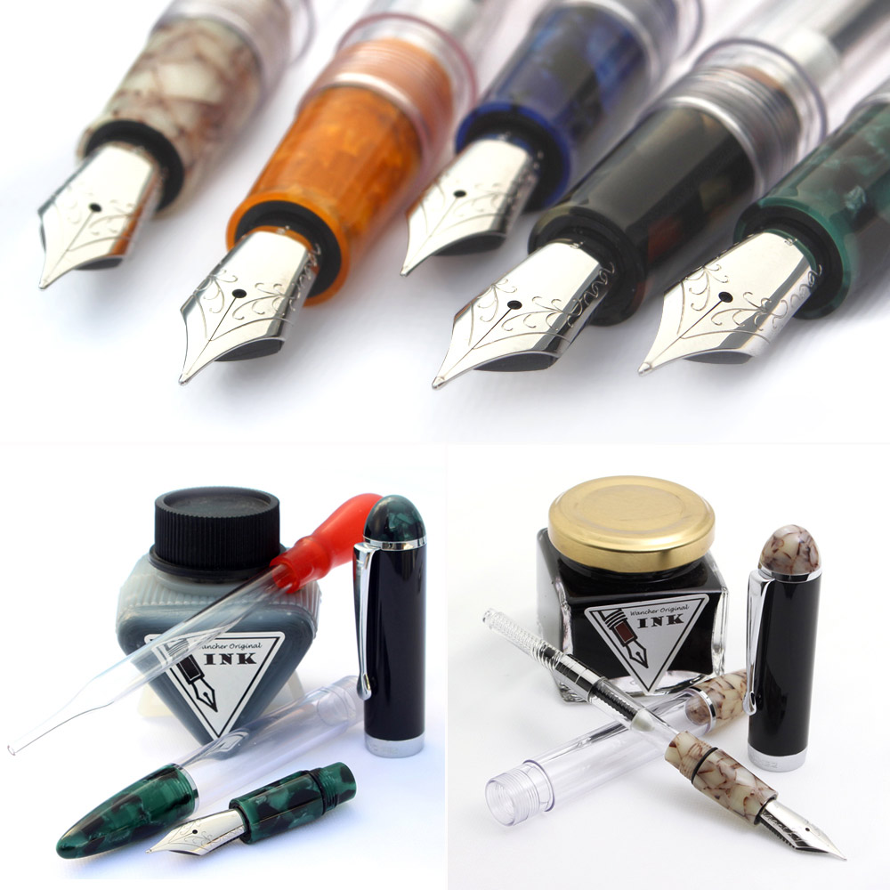 Super Ink Capacity - No more worries about out-of-ink problems with ink capacity of 10 times larger than normal convertersBeside standard ink refill system as cartridge and converter, Crystal fountain pen brings to you one more special option: Eye Dropper.・Huge reservoir of ink with eye dropper mechanism: 4 ml (more than 10 times of normal converter size)・Easy to clean・Enjoy the amazing transparency of Crystal body with different ink colors