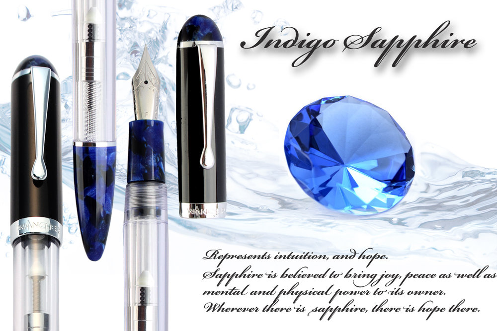 Indigo Sapphire Crystal - Intuition, and Hope.Sapphire is believed to bring joy, peace as well as mental and physical power to its owner. Wherever there is sapphire, there is hope there.