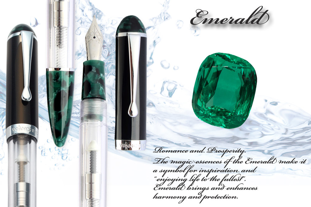 "Emerald - Love, Romance and Prosperity. The magic essences of the Emerald make it a symbol for inspiration and ""enjoying life to the fullest"". Emerald brings and enhances harmony and protection."