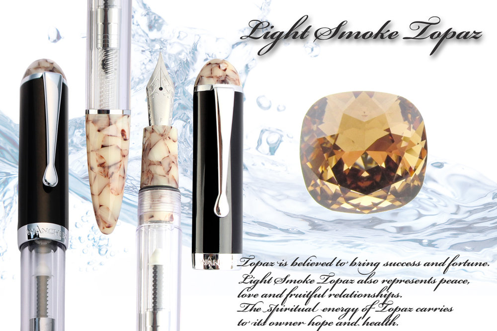 Light Smoke Topaz - Success and Fortune.Light Smoke Topaz also represents peace, love and fruitful relationships. The spiritual energy of Topaz carries to its owner hope and health.