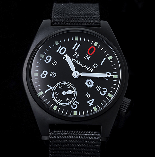 Aluminium Case - In order to experience a light weight and strong watch case material, aluminium is used to produce this watch. Targeting to military or people who do significantly sport activities, this timepiece will bring the most comfortable for wearers.