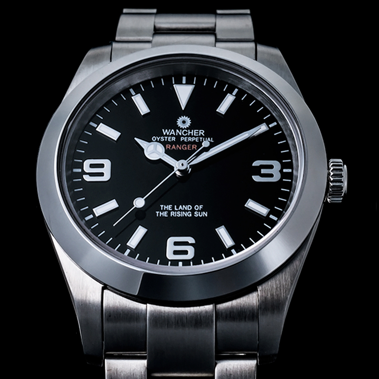 Ranger Stainless Steel Black Dial Watch