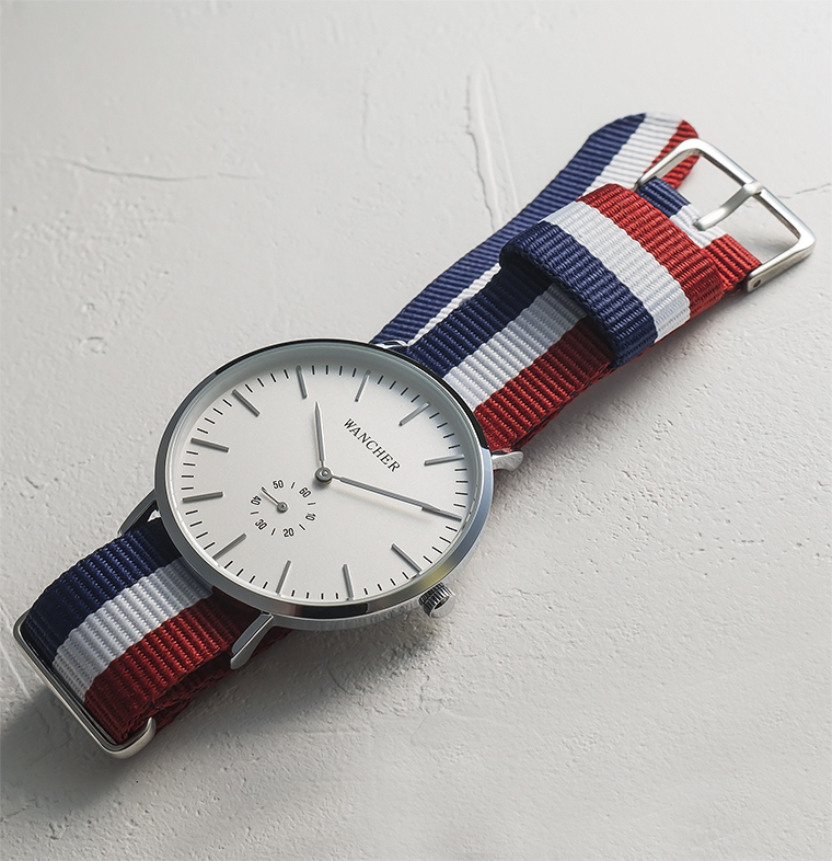 Minimal Design - Wancher Traditional comes in a minimal design with simple-looking dial and strap.