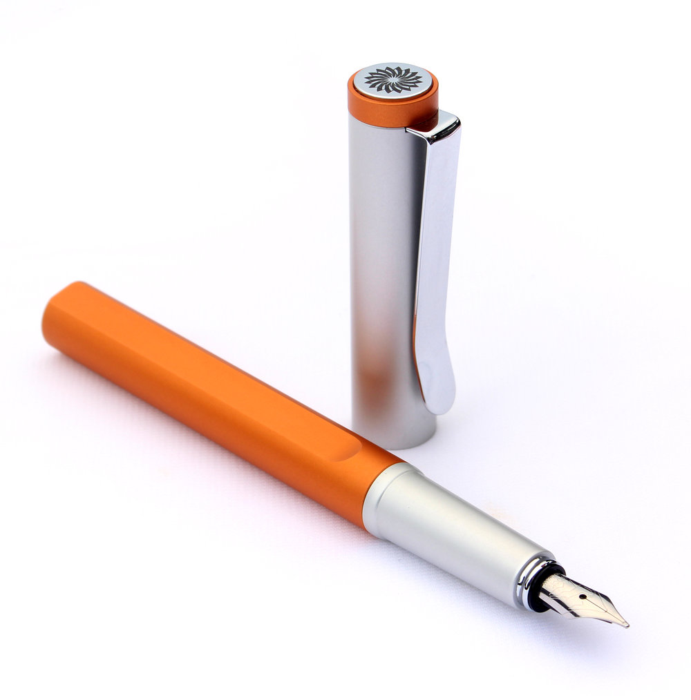 Roll-stopper - The straight cut line on the barrel have applications to be more balanced and light weight as the pen can be also helps the pen to not rolling.