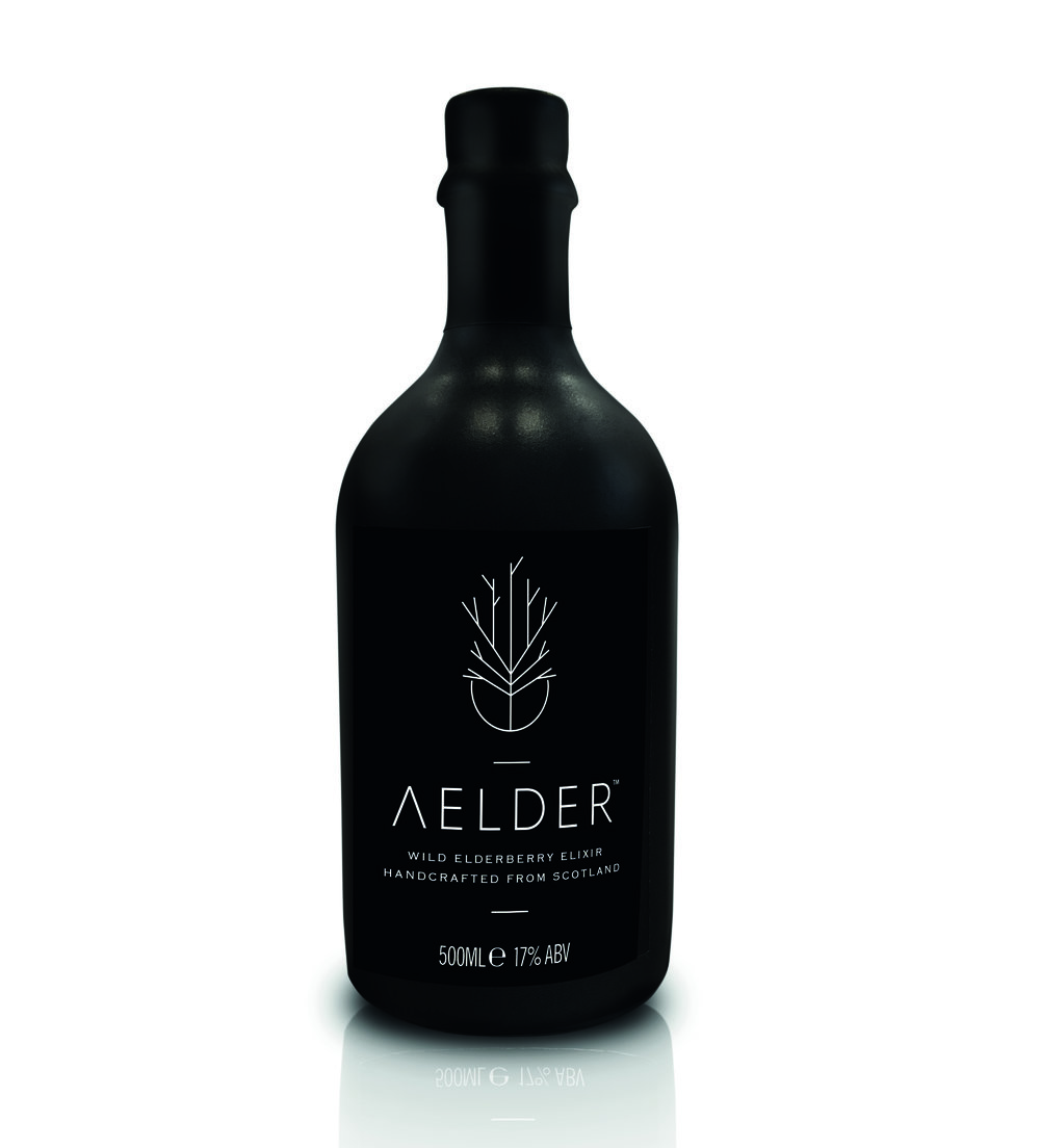 Wild Elderberry Elixir. Handcrafted in Scotland using the finest ingredients our Natural larder has to offer. Dark, rich fruit with complex aromatics and a warming finish.