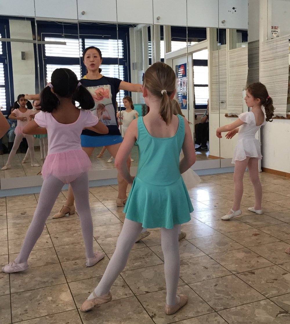 Our Ballet Teacher So Young with some of our past students