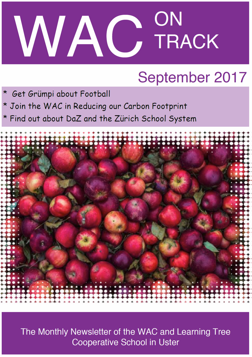 Click on the front page to read the latest WAC newsletter online
