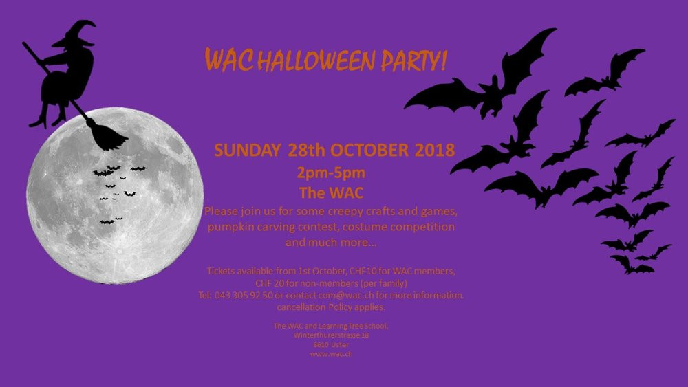 Sign up and pay at the WAC office or library during opening hours, or email com@wac.ch to reserve your place and pay on the door.