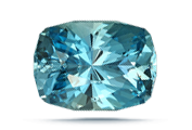 CUT  Because aquamarine's color is light, cutting is important and well-cut gems show brilliance.