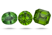 CUT Peridot is cut in a wide variety of styles, including ovals, emerald cuts, and cushions.