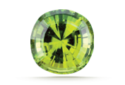 CLARITY Most fine peridot is eye clean. Tiny black spots might be visible with magnification.