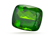 CARAT WEIGHT Large crystals of peridot have cut gems more than 50 carats in size.