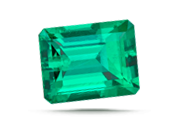CARAT WEIGHT  Because its density is lower, a one-carat emerald will appear larger in size than a one-carat diamond.