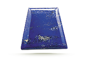 CUT Lapis is typically cut into cabochons, beads, inlays, or tablets.