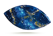 CLARITY Top-quality lapis can display small, attractively distributed, gold-colored flecks of pyrite.