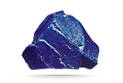 CARAT WEIGHT Lapis rough can be large enough to fashion into decorative carvings.