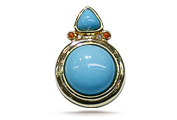 CUTAlthough turquoise is usually cut into beads and cabochons, it can also be carved.