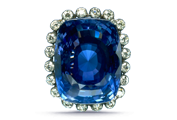 CARAT WEIGHT Blue sapphires range in size, and large blue sapphires are more readily available than large rubies.