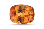 CARAT WEIGHT Topaz often forms as large crystals. These can yield sizable cut gems.