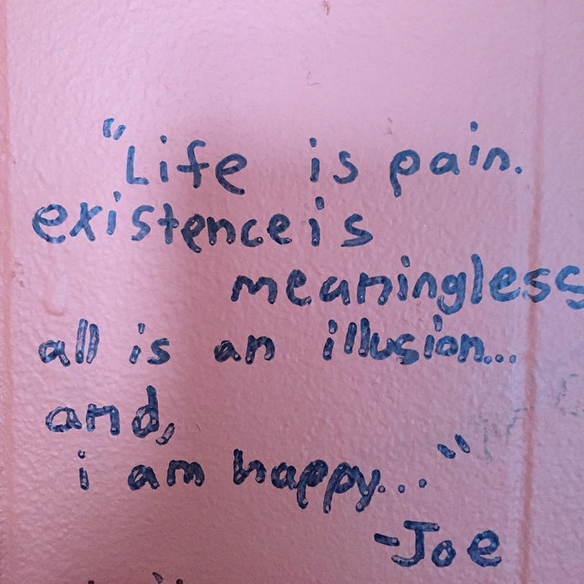 Some words of wisdom from the walls of the purple fiddle that I forgot to post the other day