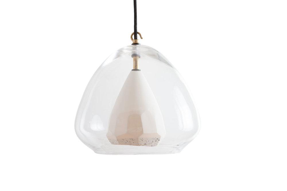 FACET LAMP MEDIUM GLASS