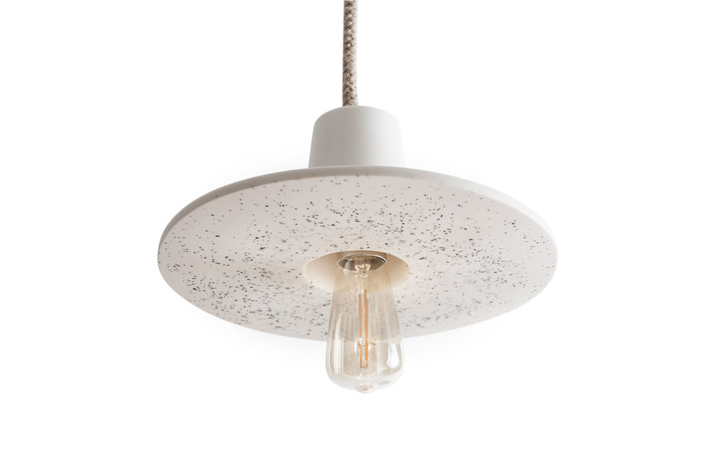 DISC LAMP SMALL WHITE<br>£300