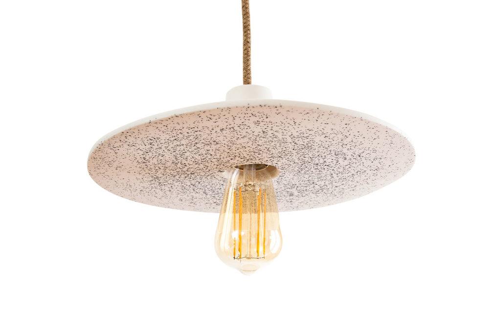 DISC LAMP LARGE WHITE