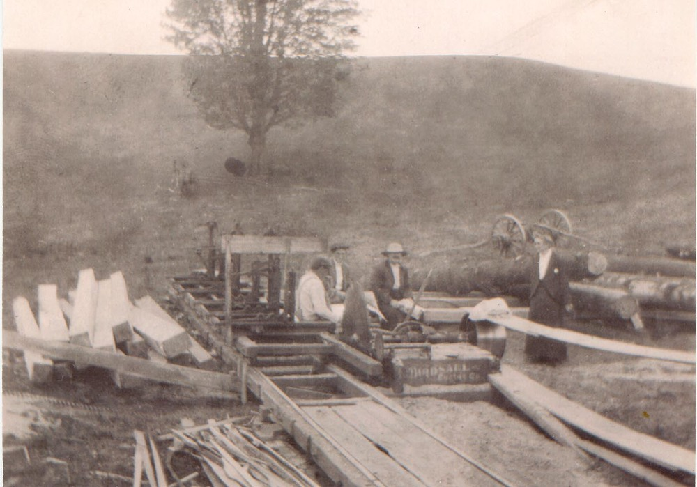 In April of 1915, the big barn burned to the ground - the result of some mischievous children, playing with matches. Leverette Conant was determined to rebuild. He hired a large team of local men to help with the reconstruction. They brought in a portable sawmill and milled logs on site.
