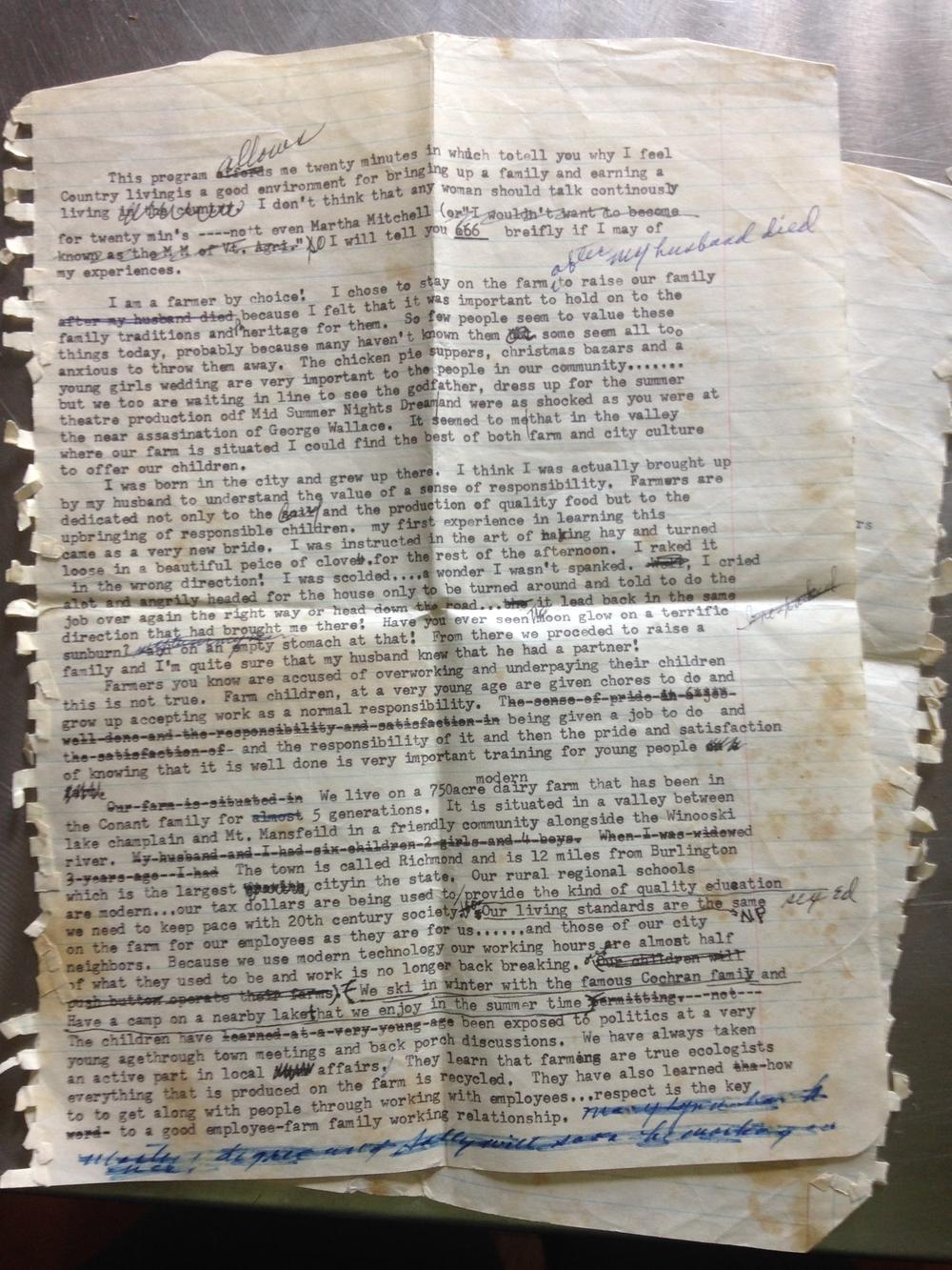 Gloria's manuscript