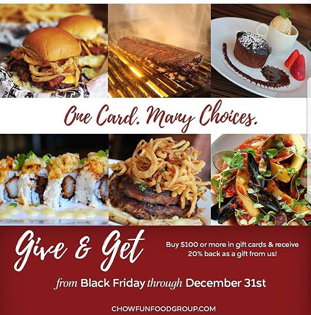 Santa's coming so don't be left out with the best gift you can give to a foodie!  Purchase $100 and earn 20% back! . . . . . #christmas #merrychristmas #giftcards #earnback #harrys #harrysbarandburger #burgers #sliders