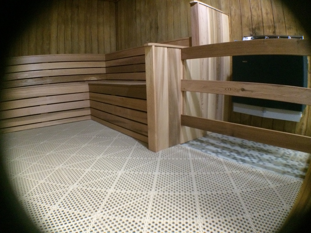 Pembroke Pines YouFit Health Club . Full restoration of the men's and women's saunas, sanding all walls and ceilings. Installed all new heaters, along with custom built arm rests, benches,and skirts. Finished with Dri-Deck flooring.