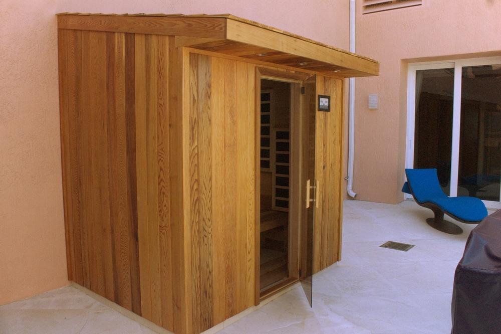 Completely Custom Outdoor Infrared Sauna
