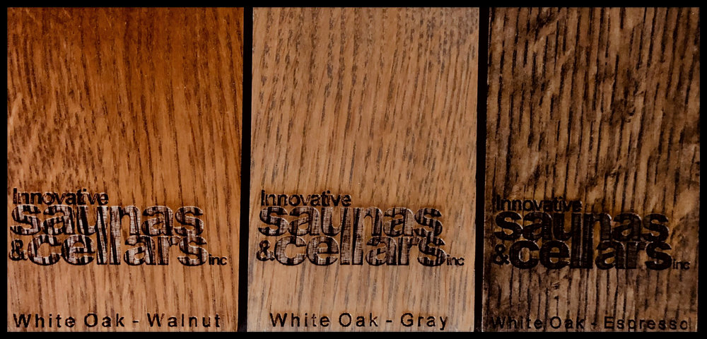 White Oak:  Walnut - Gray - Espresso