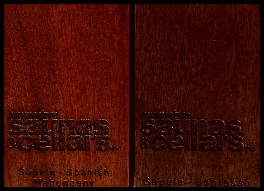Sapele:  Spanish Mahoghany - Espresso